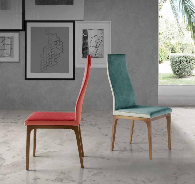 SILLA DE MADERA NACHER IGNI WOOD  - SILLA DE MADERA NACHER IGNI WOOD, Silla de madera maciza tapizada en diferentes materiales, y en una amplia gama de colores cada uno de ellos. Una silla de alto diseño ideal para hogares de estilo moderno.