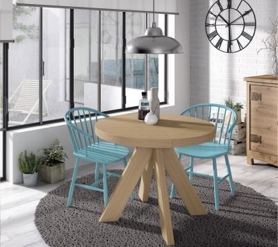 Mesa de comedor extensible La-Fossa - Mesa de comedor Fossa, extensibles internos, redonda con una personalidad rústica y atemporal.