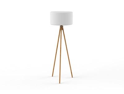 Lámpara de pie de Diseño con patas de madera Chloe - Lámpara de pie de Diseño con patas de madera Chloe