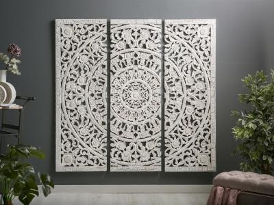 Panel Madera tallada Flor