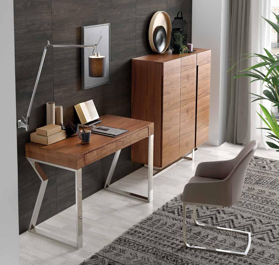 ESCRITORIO CATANIA - ESCRITORIO CATANIA, Mesa de escritorio fija con sobre de MDF lacado en blanco y cajón integrado.