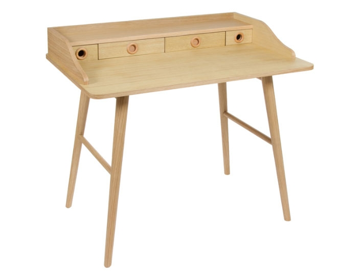 Bureau Wood 4 cajones - Bureau Wood 4 cajones,  mdf y fresno, color madera natural