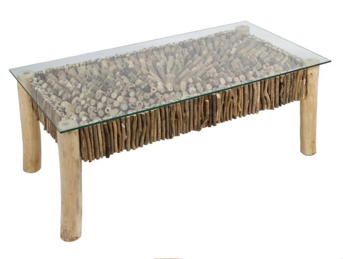 Mesa centro deco - Mesa centro deco,  fabricado en madera de mindi