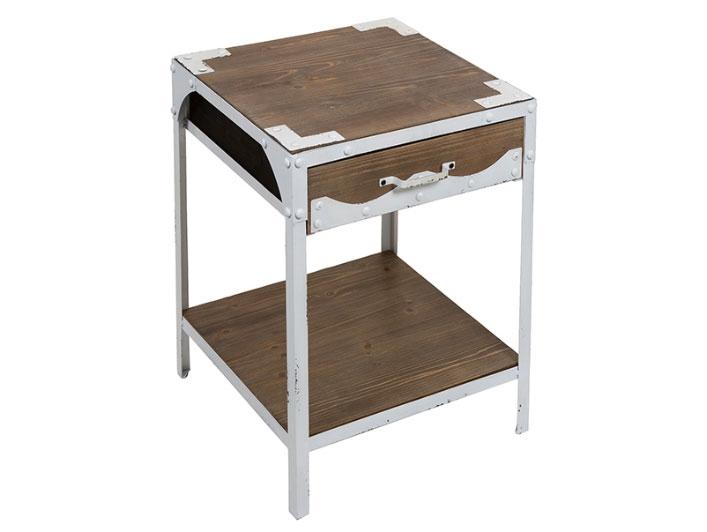 Mesa vintage blanca 1 cajones