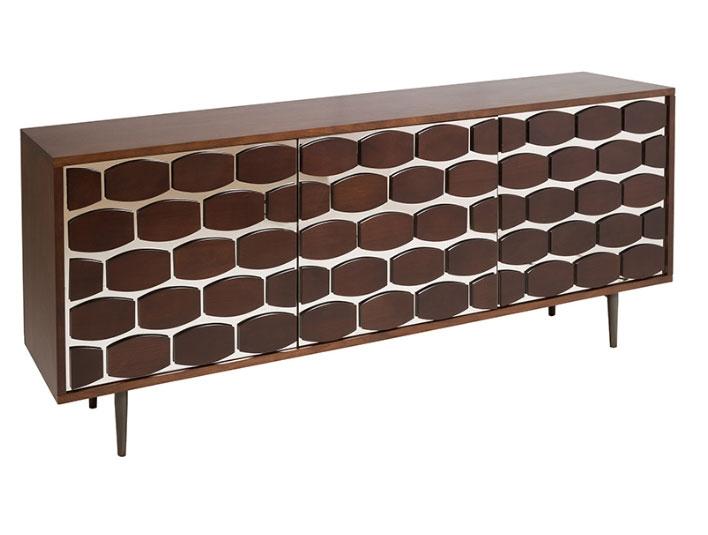 Aparador hexagon - Aparador hexagon,  dm y madera de roble, gran capacidad interior, estilo contemporáneo