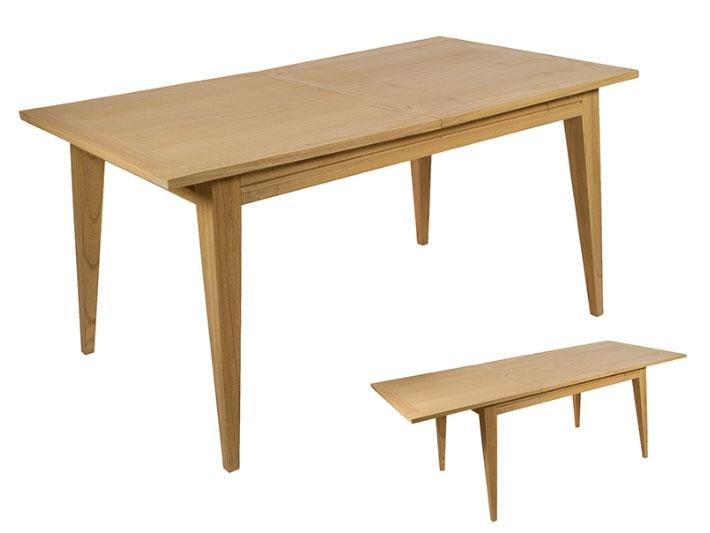 Mesa extensible Miami roble - Mesa extensible Miami roble, madera de mindi estilo colonial