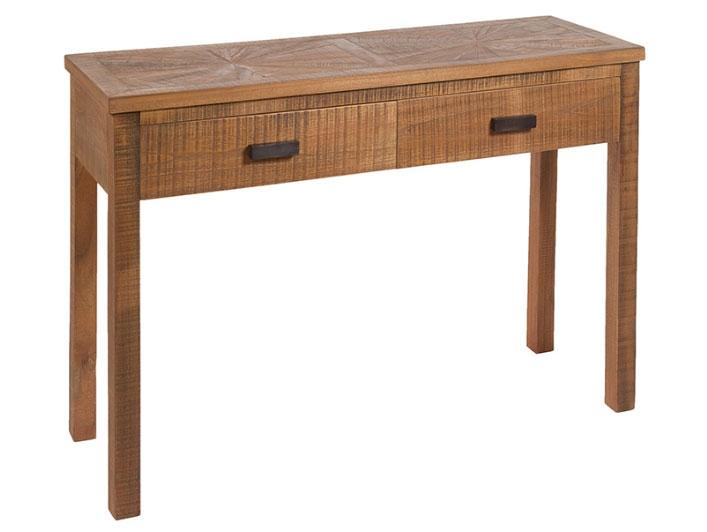 Consola Mae - Consola Mae, madera de mindi, tiradores metálicos estilo industrial