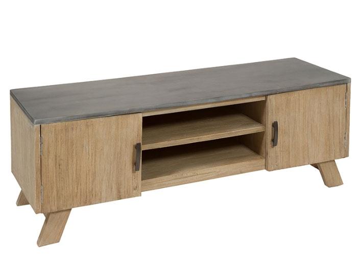 Mesa tv Noa - Mesa tv Noa, madera de mindi, mdf estilo industrial