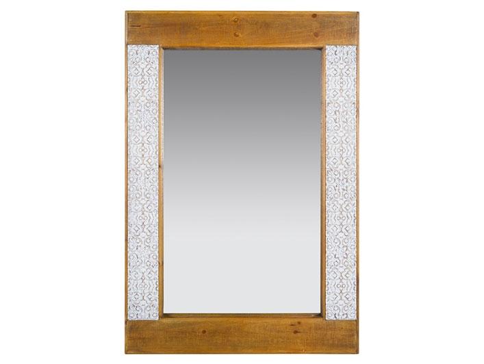 Espejo Nara - Espejo Nara, madera abeto + mdf, estilo shabby chic