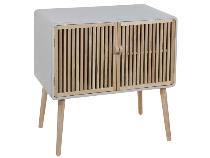 Consola Mallorca - Consola Mallorca, madera de roble y madera de paulonia estilo industrial