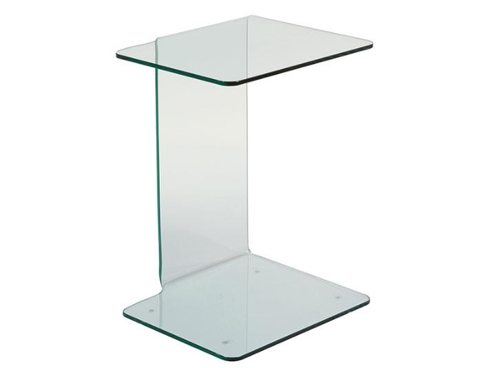 Mesa auxiliar cristal - Mesa auxiliar cristal, vidrio curvado 10 mm