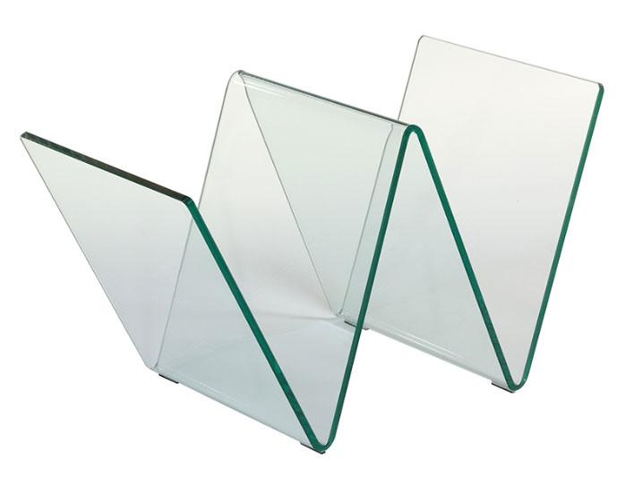 Revistero cristal - Revistero cristal, vidrio curvado 10 mm