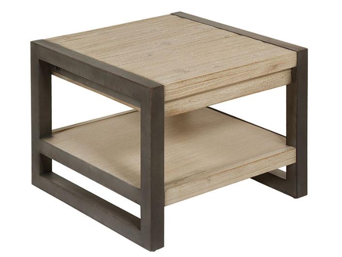 Mesa auxiliar Tundra - Mesa auxiliar Tundra, madera de acacia, patas de hierro, estilo industrial