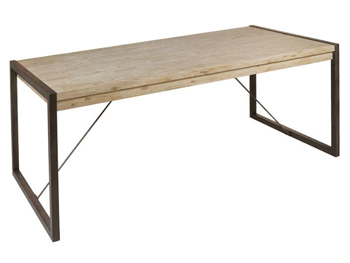Mesa comedor Tundra - Mesa comedor Tundra, madera de acacia, patas de hierro, estilo industrial
