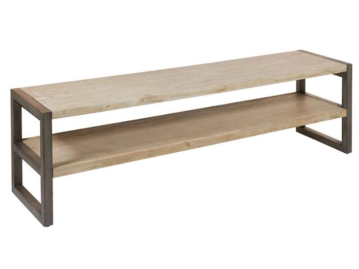 Mesa tv Tundra - Mesa tv Tundra, madera de acacia, patas de hierro, estilo industrial