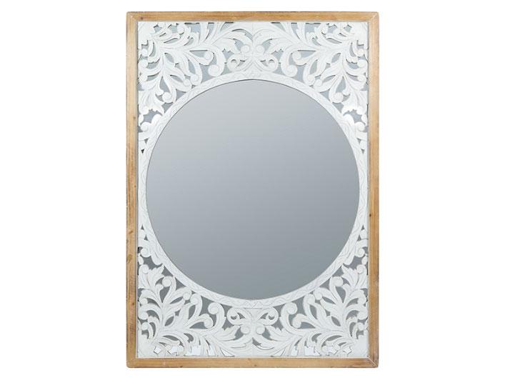 Espejo Acanto - Espejo Acanto, laminado abeto y mdf