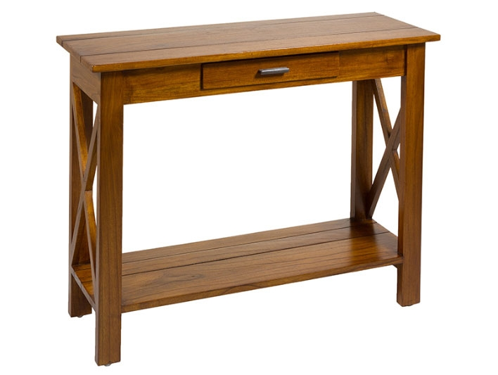 Consola aspas - Consola aspas, madera de mindi, playwood, estilo colonial