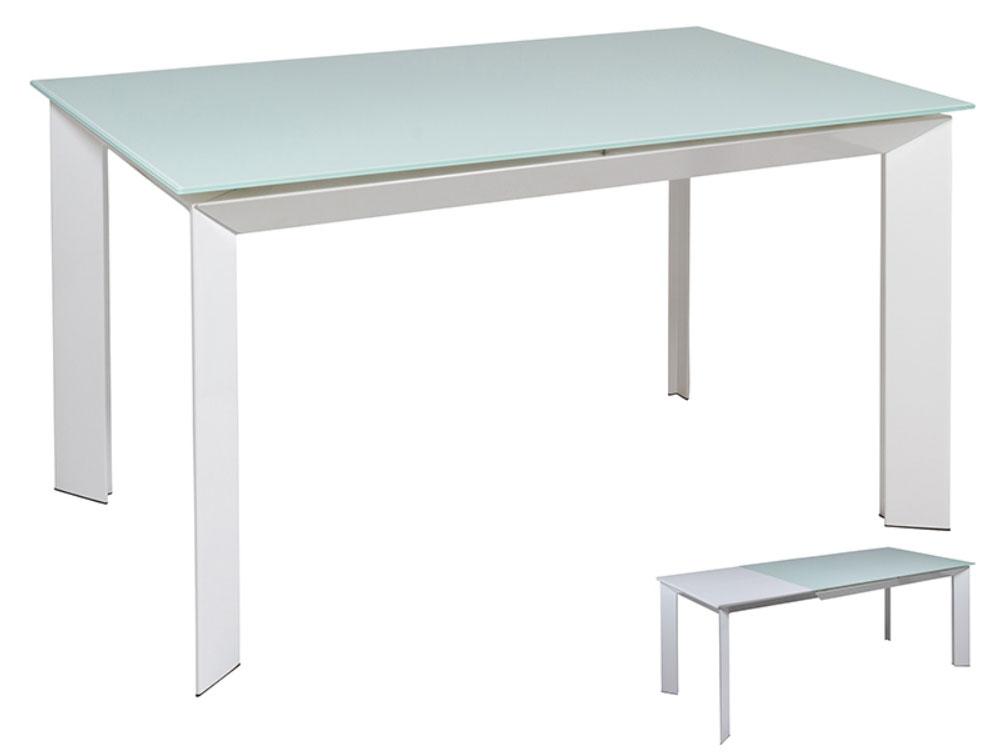Mesa comedor blanca extensible - Mesa comedor blanca extensible