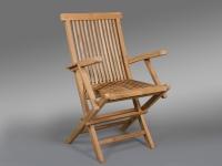 Silla y sillón de Teka para exteriores - Silla con o sin reposa brazos de Teka