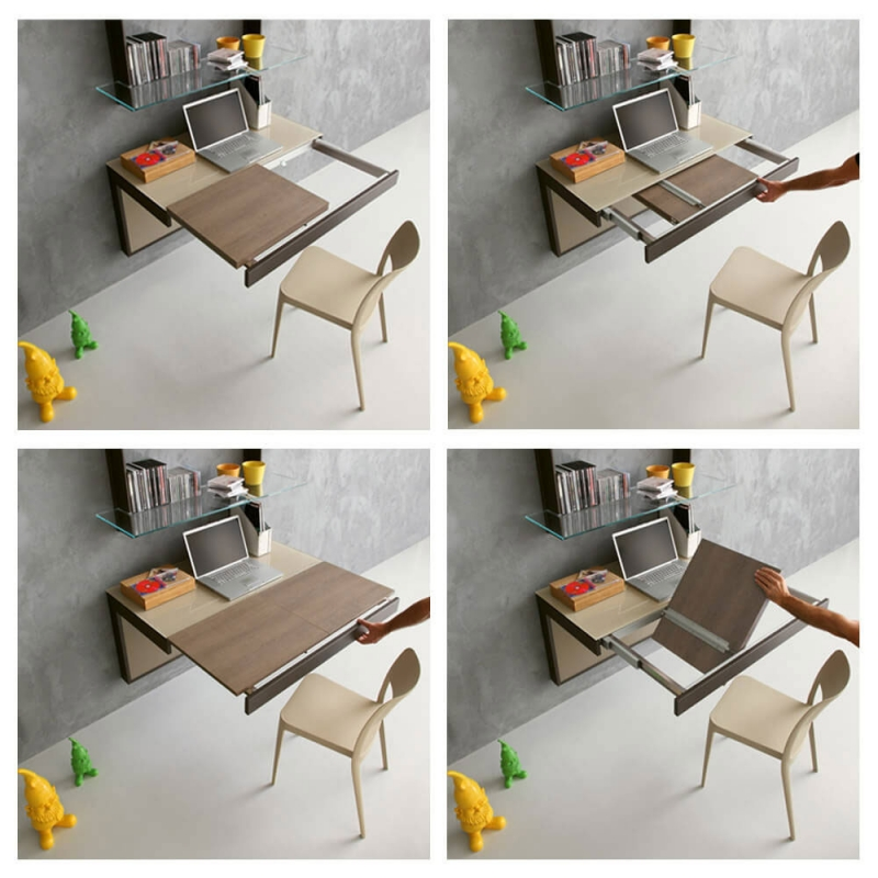 mesa de pared extensible y moderna
