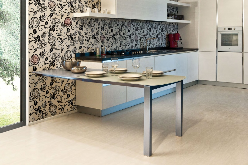 Mesa de cocina extensible Voila - Mesa de cocina extensible Voila