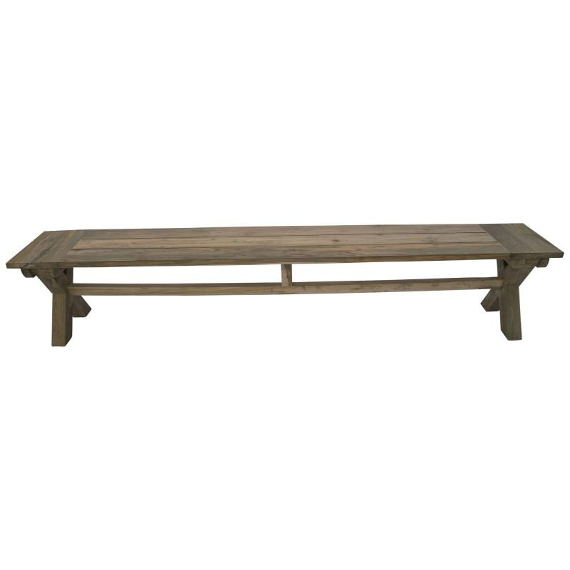 Banco de jardín de madera natural de teca - Banco de jardín de madera natural de teca