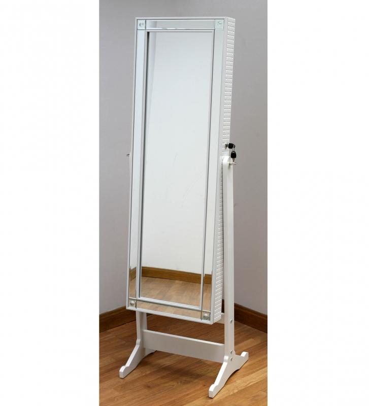 Mueble Joyero con espejo - Mueble joyero blanco con espejo