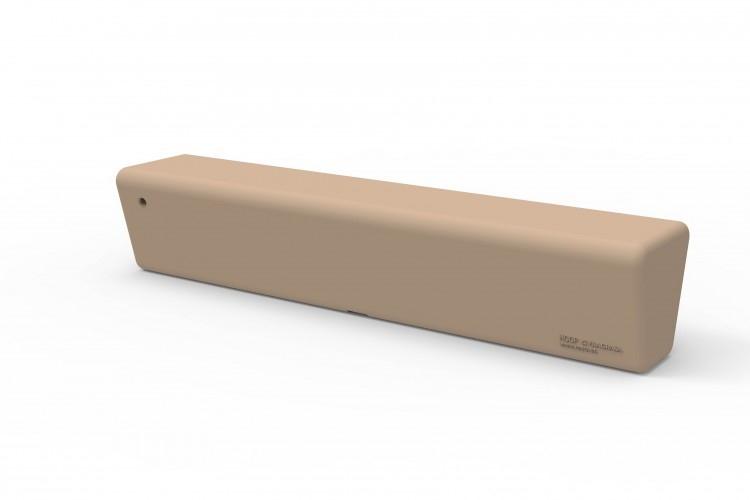 HOOP RECTO - Bancada lineal de polietileno rotomoldeado para uso interior y exterior. Protección contra rayos UV.