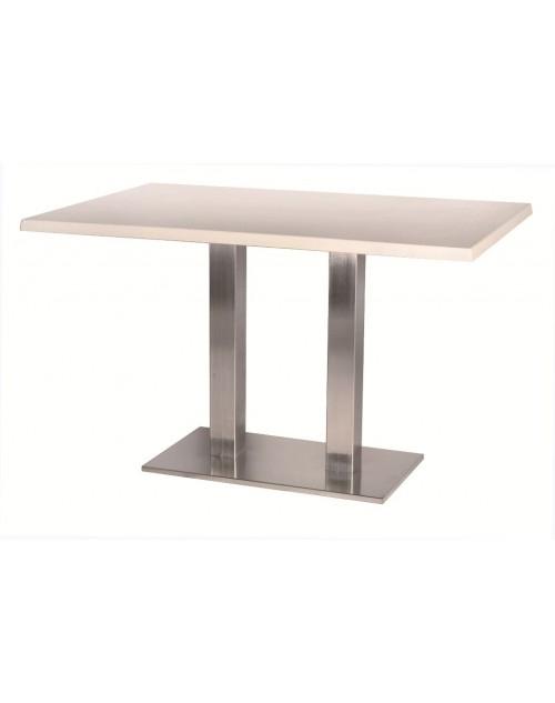Patas de mesa Miro doble - Patas para mesa modelo Miro doble, pie central doble de acero inoxidable