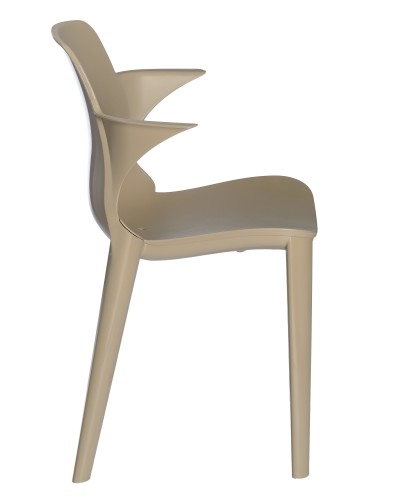 SILLA CON BRAZOS LYZA - Silla con brazos para uso interior y exterior. Estructura y asiento inyectados en polipropileno. Asiento sujeto a la estructura mediante tornillos zincados