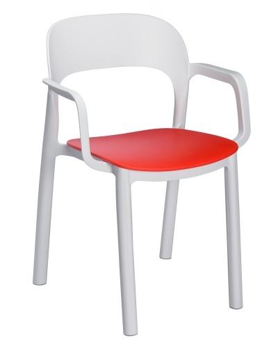 SILLA CON BRAZOS ONA - Silla con brazos para uso interior y exterior. Estructura y asiento inyectados en polipropileno. Asiento sujeto a la estructura mediante tornillos zincados.
