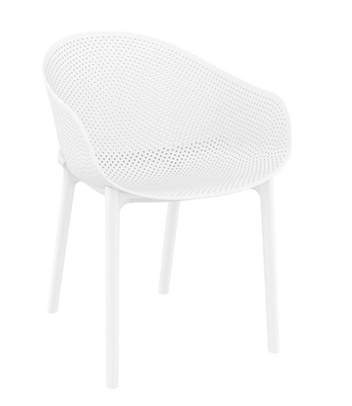 SILLA CON BRAZOS SKY - El sillón Sky está fabricado con polipropileno reforzado con fibra de vidrio. Para uso interior y exterior. Se puede desmontar.