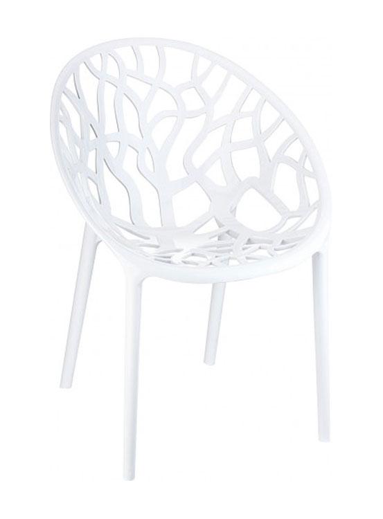 SILLA CORAL - Silla apilable para uso interior y exterior. Inyectada en policarbonato, protección UV.