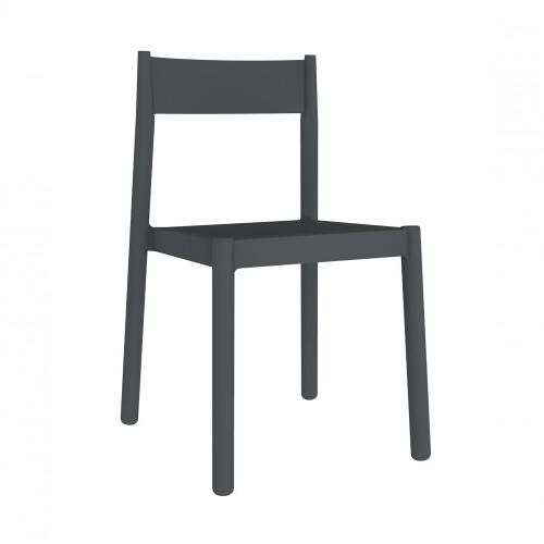 SILLA DANNA - Silla para uso interior y exterior. Inyectada en PP. Apilable. Protección UV. Peso neto silla 3,15 kg.