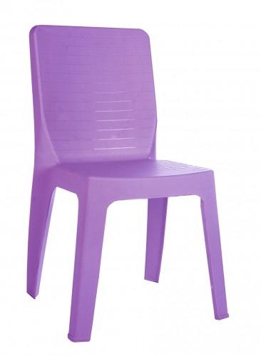 SILLA IRIS - Silla para uso interior y exterior. Inyectada en polipropileno. Apilable. Tacos de goma antideslizante. Peso neto: 2,85 kg. UV Protección.