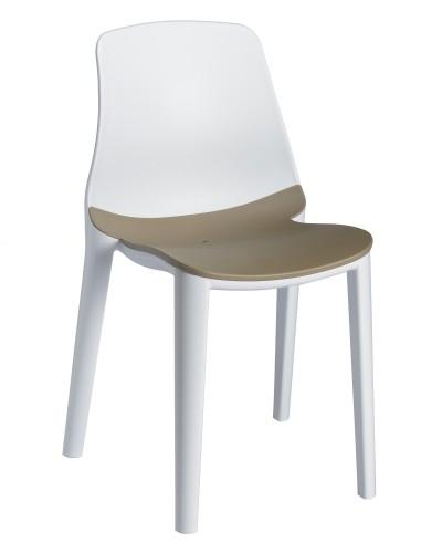 SILLA LYZA - Silla para uso interior y exterior. Estructura y asiento inyectados en polipropileno. Asiento sujeto a la estructura mediante tornillos zincados
