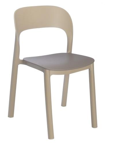 SILLA ONA sin brazos - Silla sin brazos para uso interior y exterior. Estructura y asiento inyectados en polipropileno. Asiento sujeto a la estructura mediante tornillos zincados