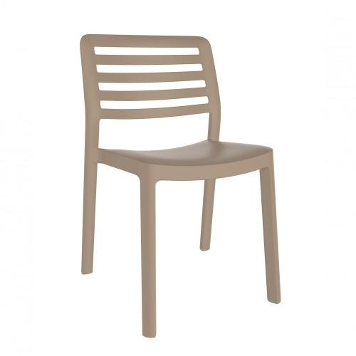 SILLA WIND - Silla para uso interior y exterior. Inyectada en PP. Apilable. Protección UV. Peso neto silla 2,9 kg.