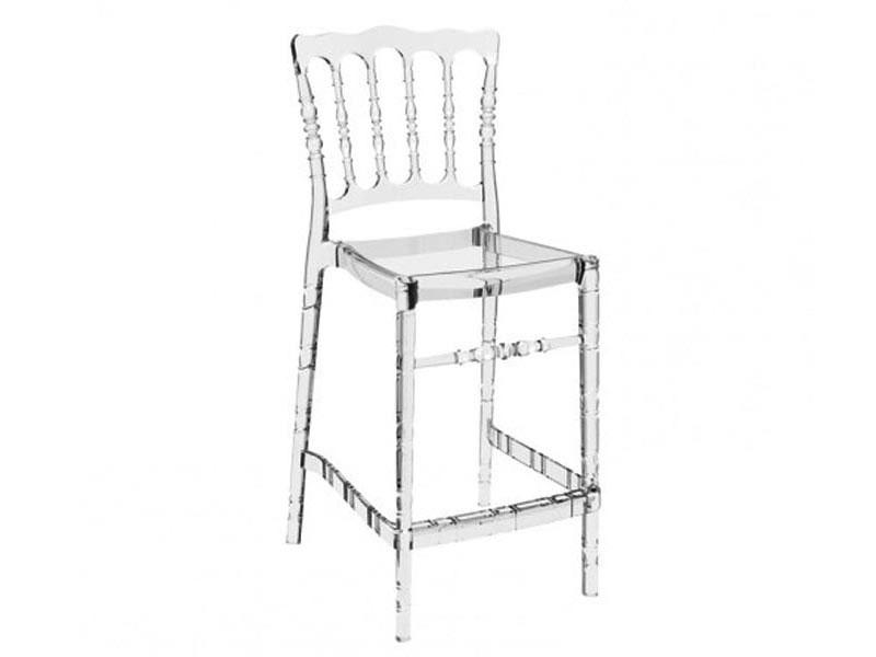 7455217e78f9 TABURETE OPERA 65 75 - Taburete apilable para uso interior y exterior.  Inyectado en policarbonato photo. Taburete alto con respaldo y sillas altas  de cocina