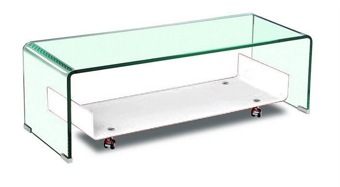 Mesa Naim - Mesa Naim, , cristal transparente-blanco, 120x40 cms