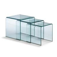 Set de mesas de cristla NIDO - Mesas NIDO de cristal