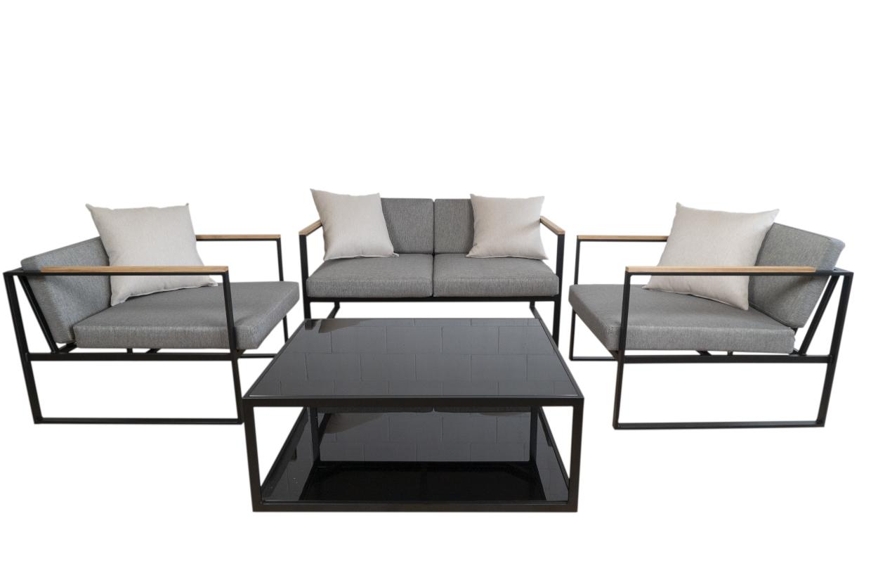 Set de sofá para exterior modelo Ginna - Set de sofá de aluminio modelo Ginna
