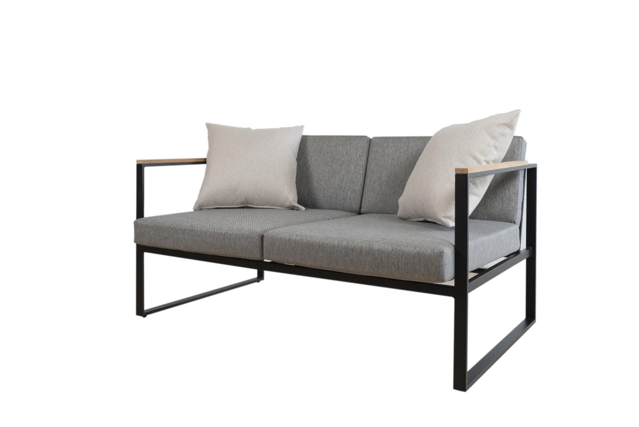 Set de sofás para exterior en color Antracita - Sofás para exterior modernos