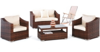 Set de sofás de exterior modelo Sulaves - Set de muebles de jardín modelo Sulaves