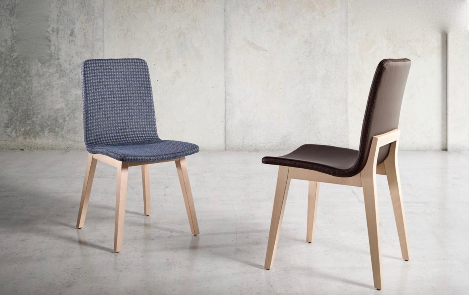 Silla Blex - Silla Blex, tapizado de alta calidad y con estructura de madera.