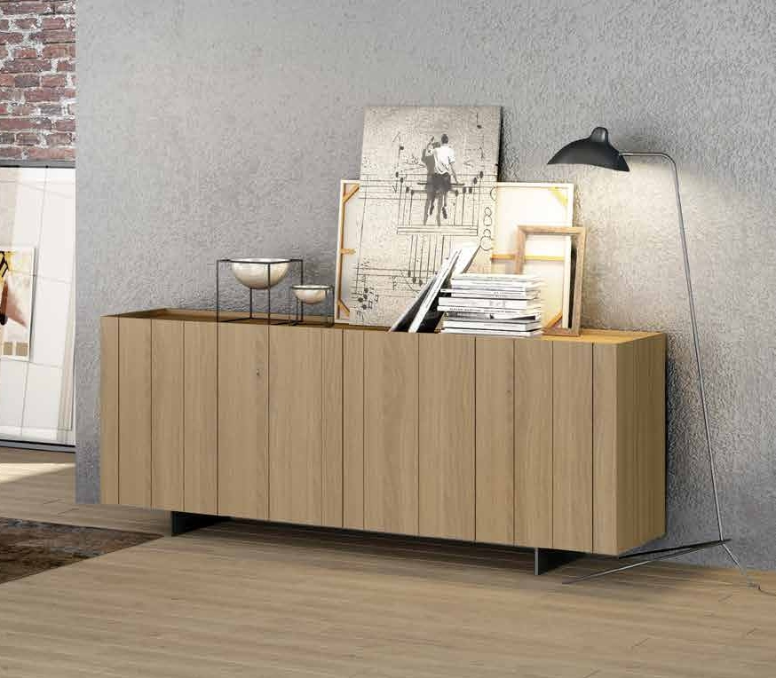 Aparador colección Terra AP05 - Aparador colección Terra AP05, Fabricado en madera de roble, aceite ecológico con tonalidad grisácea y cera natural, color Roble Grisaceo, con laca color Gris.