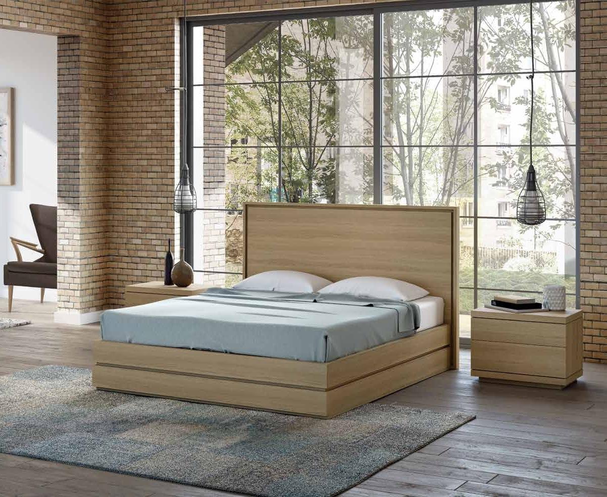 Cama colección Terra CM02 - Cama colección Terra CM02, La elegancia en el diseño de este dormitorio de líneas urbanas, se acentúa con el acabado Roble Tostado.