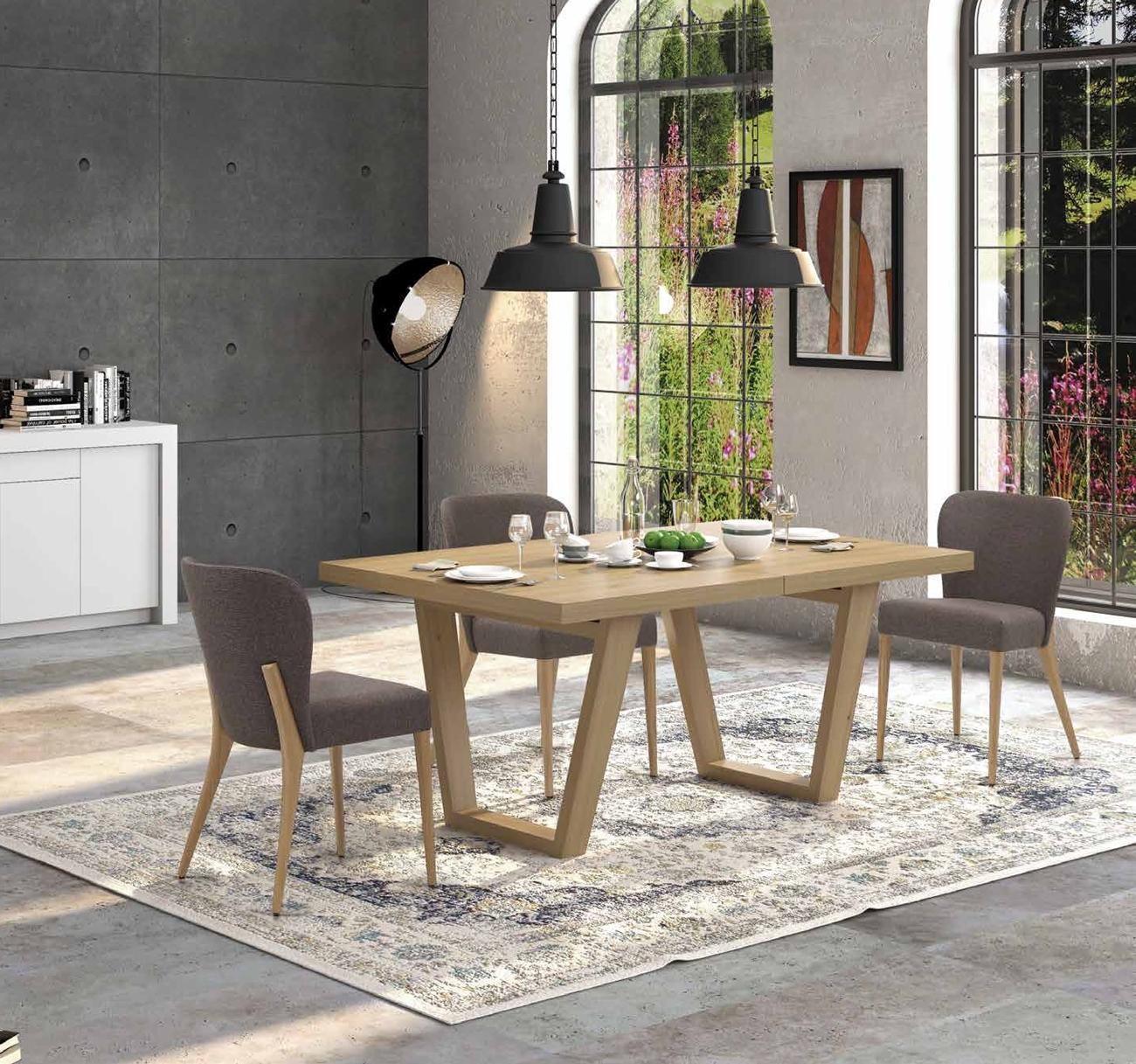 Mesa de Comedor colección Terra M06 - Mesa de Comedor colección Terra M06, Acabado con aceite ecológico y cera, que es nuestro color Roble Tostado.