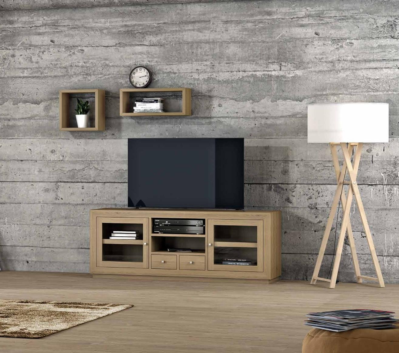 Mesa de TV colección Terra TV02 - Mesa de TV colección Terra TV02, Mesa de TV Moderna 2 cajones y 2 puertas
