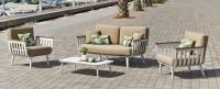 Sofa CORSICA - Sofa CORSICA, fabricado en aluminio y tapicería Dralón